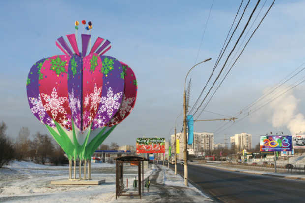 Великие луки: Как украсят Москву к Новому году. Изображение № 69.
