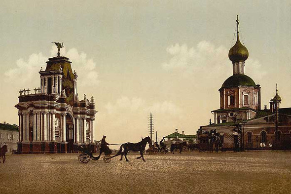 Фотографии 1890–1910 годов. Красные ворота. Изображение № 2.