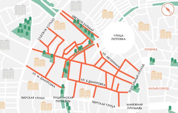 Платную парковку распространят на Большую Дмитровку и Цветной бульвар. Изображение № 1.