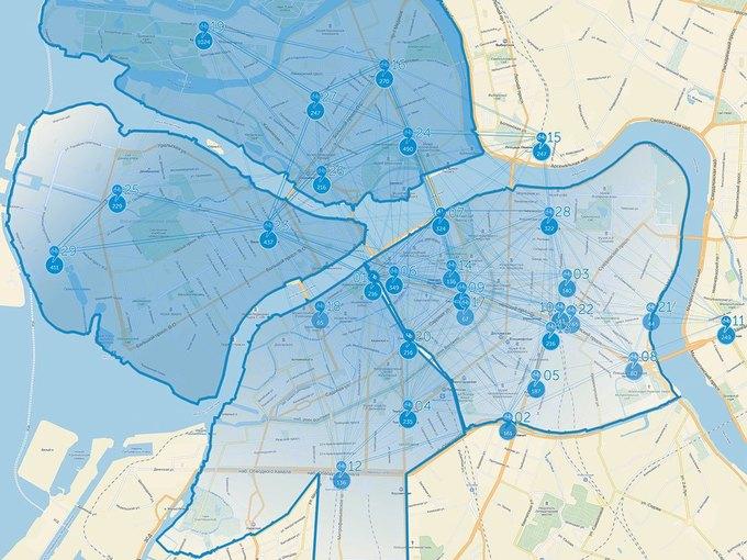 Количество станций велопроката вПетербурге в2015году. Изображение № 2.