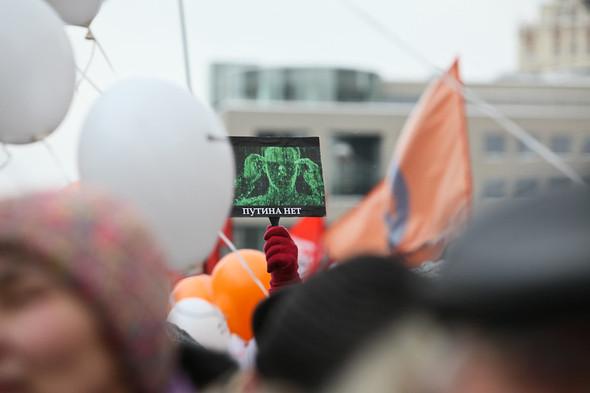 Митинг «За честные выборы» на проспекте Сахарова: Фоторепортаж, пожелания москвичей и соцопрос. Изображение № 22.