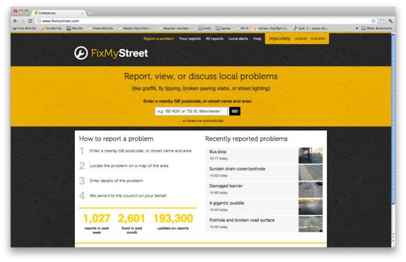 О любой проблеме, связанной с ЖКХ, можно сообщить на сайте или в приложении FixMyStreet. Здесь же ведется территориальная статистика решенных проблем. Изображение № 24.
