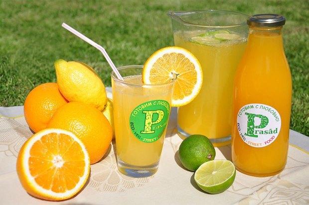 Апельсиново-имбирный лимонад «Prasad — Готовим с любовью». Изображение № 5.