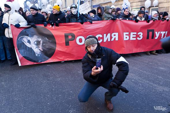Фоторепортаж: Шествие за честные выборы в Петербурге. Изображение № 21.