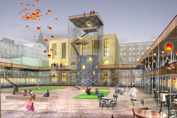 Что делать с электростанцией на Балчуге: 5 проектов студентов МАРХИ. Изображение № 1.
