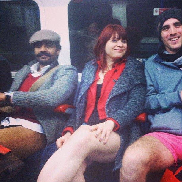 Флешмоб «В метро без штанов» в снимках Instagram. Изображение № 19.