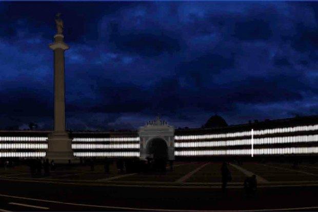 На ночь глядя: 12 проектов подсветки Главного штаба. Изображение № 69.