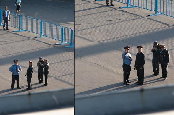 Подпись под фотографией: «Никто не скроется от сотрудников полиции». Изображение № 2.
