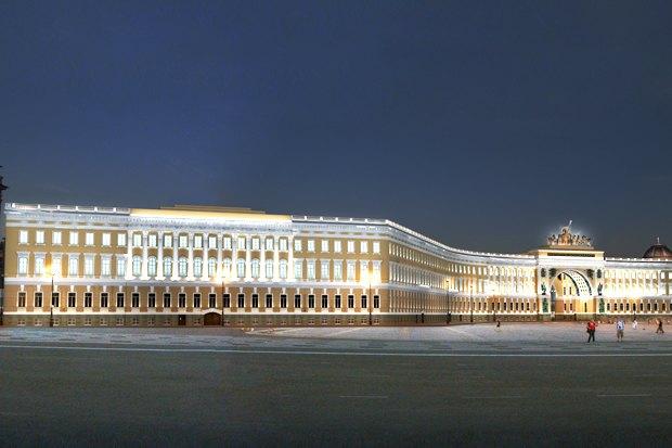 На ночь глядя: 12 проектов подсветки Главного штаба. Изображение № 82.