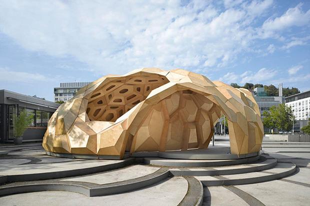 Дизайн от природы: Стекло-паутина и павильон — морской еж в Германии. Изображение № 10.