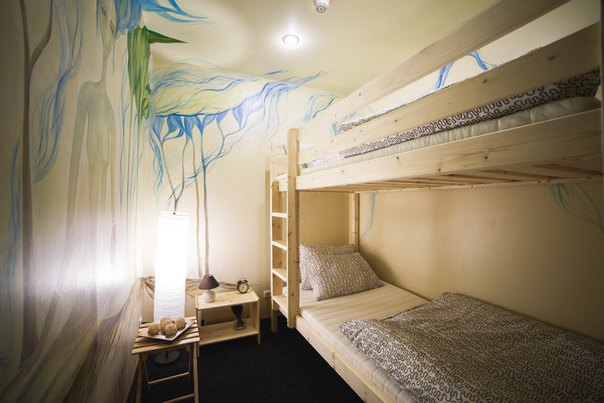 НаПетроградской открылся хостел срасписными комнатами. Изображение № 6.
