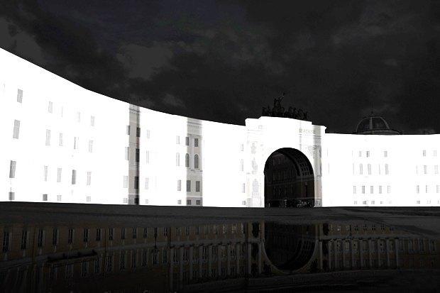 На ночь глядя: 12 проектов подсветки Главного штаба. Изображение № 61.