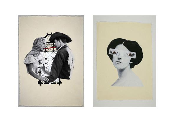 Два коллажных рисунка из серии «Прыжок в пустоту», Зенита Комад. Изображение № 7.
