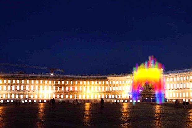 На ночь глядя: 12 проектов подсветки Главного штаба. Изображение № 75.