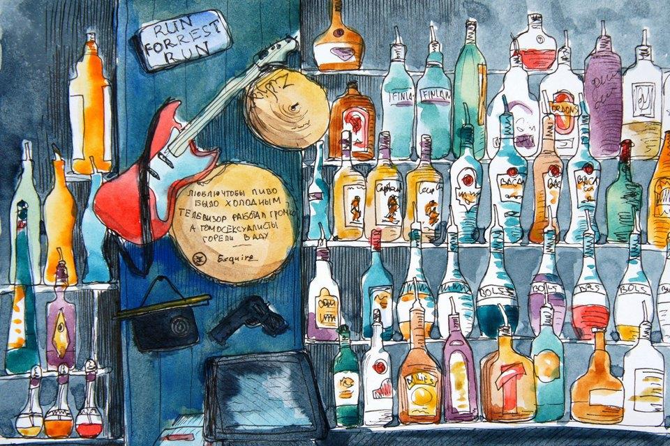 Клуб рисовальщиков: Бар «Куклы пистолеты». Изображение № 3.
