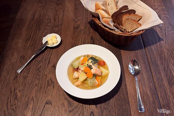 Овощной суп с рыбой и морепродуктами — 370 рублей. Изображение № 41.