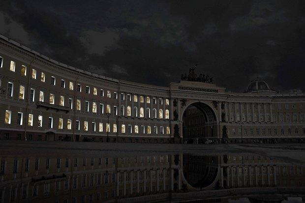 На ночь глядя: 12 проектов подсветки Главного штаба. Изображение № 90.