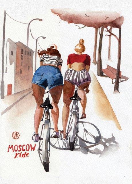 Выставка «Москва вэскизах LAM Sketching Club» впарке «Музеон». Изображение № 4.