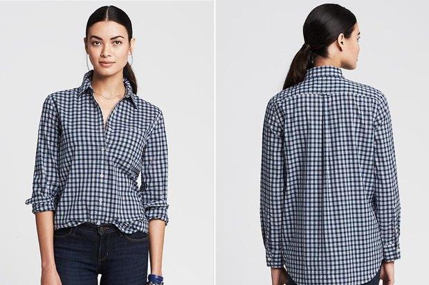 Где купить женскую рубашку вклетку: 9вариантов от одной до семи тысяч рублей. Изображение № 7.
