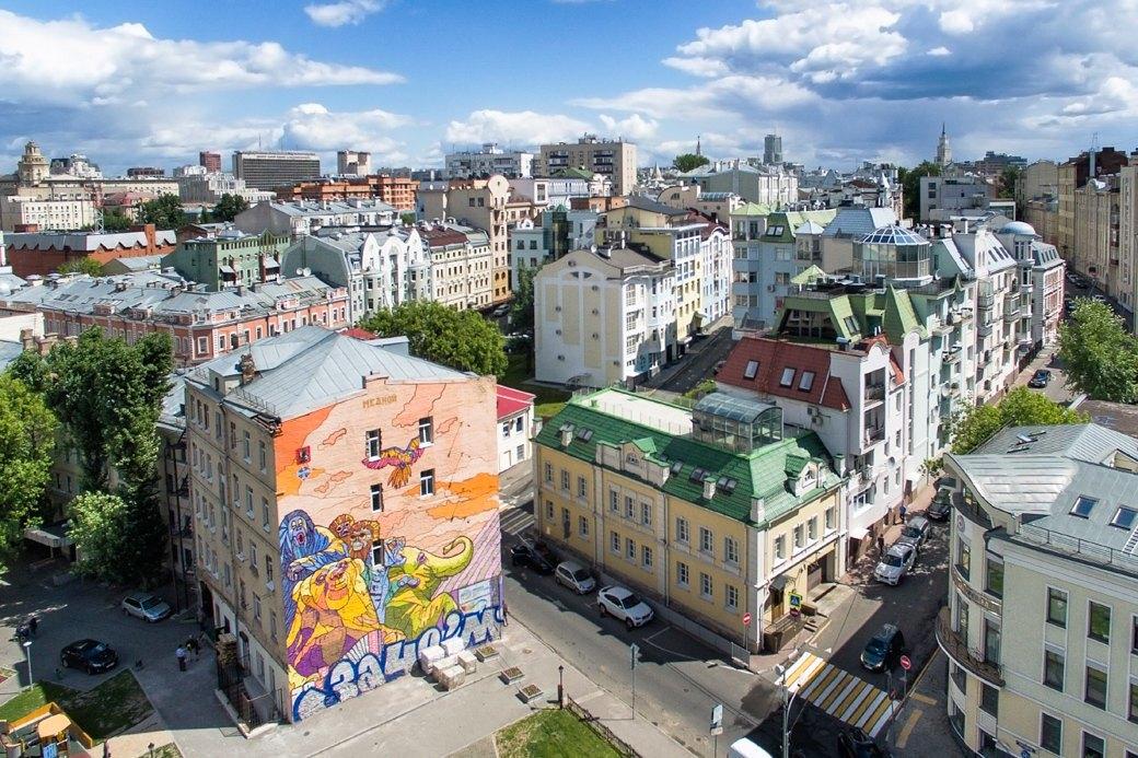 Лучшие московские граффити свысоты птичьего полёта. Изображение № 1.