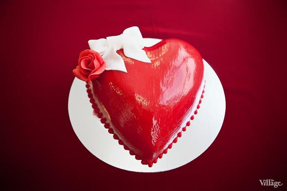 Торт-сердце «Трюфельный» — 720 рублей. Изображение № 1.