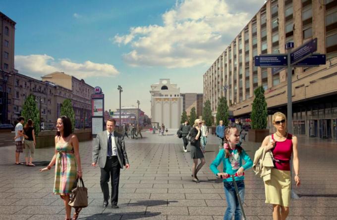 Визуализация реконструкции Тверской улицы. Изображение № 7.