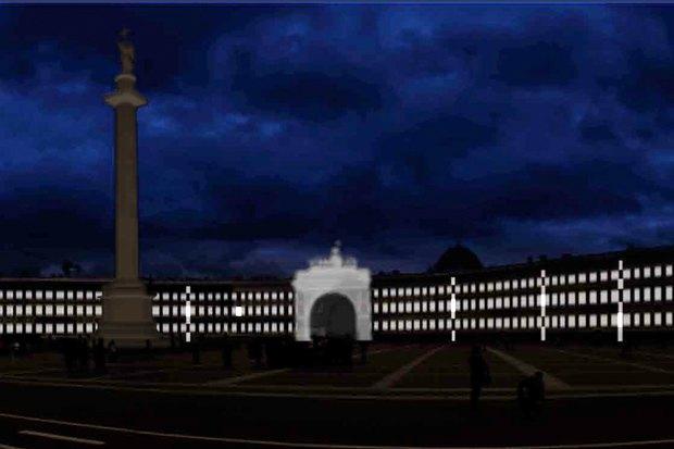 На ночь глядя: 12 проектов подсветки Главного штаба. Изображение № 71.