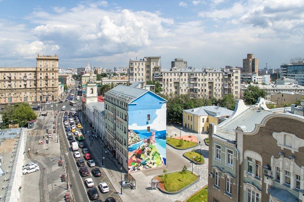 Лучшие московские граффити свысоты птичьего полёта. Изображение № 10.
