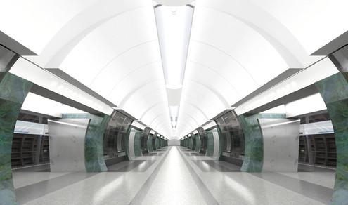 Изображение 4. Третий контур московского метро сделают непохожим на другие станции.. Изображение № 5.