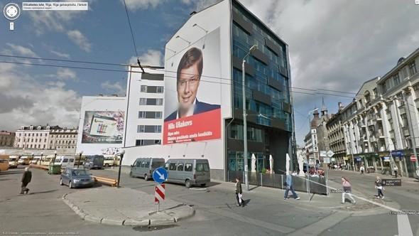 Рекламный постер Нила попал в Google Street View. Изображение № 3.