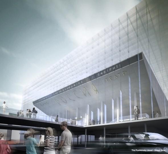 Изображение 3. Иностранные архитекторы представили проекты реконструкции кинотеатра «Пушкинский».. Изображение № 5.