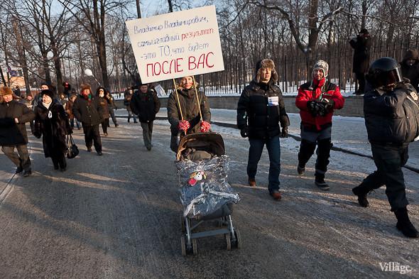 Фоторепортаж: Шествие за честные выборы в Петербурге. Изображение № 37.