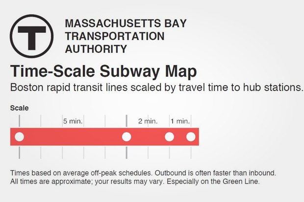 Идеи для города: Карта метро Бостона с временными отрезками. Изображение № 7.