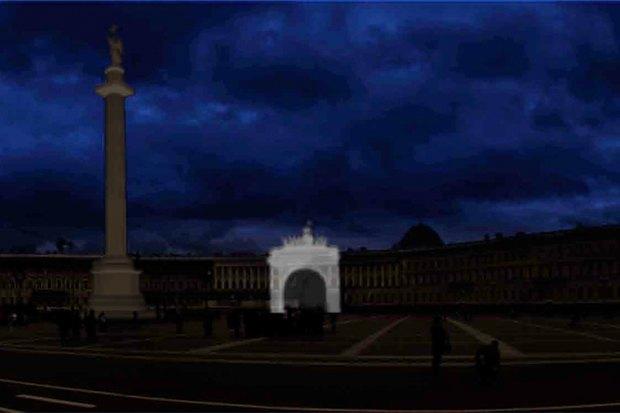 На ночь глядя: 12 проектов подсветки Главного штаба. Изображение № 66.