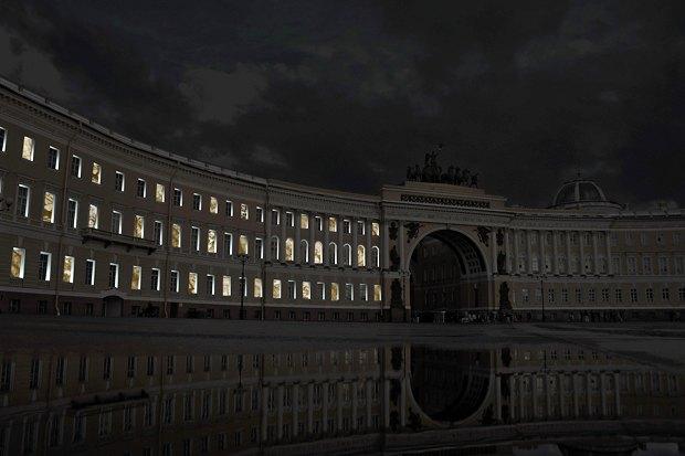 На ночь глядя: 12 проектов подсветки Главного штаба. Изображение № 89.