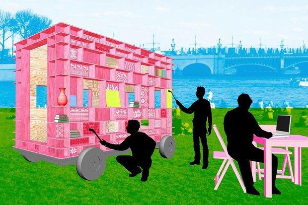 Мобильный павильон «Манифесты 10» ищет места для стоянки . Изображение № 1.