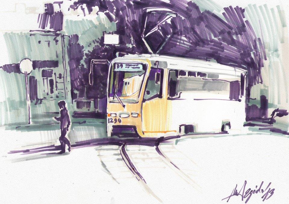Клуб рисовальщиков: Московские трамваи. Изображение № 4.