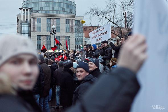 Фоторепортаж: Митинг против фальсификации выборов в Петербурге. Изображение № 26.