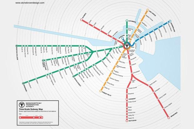 Идеи для города: Карта метро Бостона с временными отрезками. Изображение № 5.