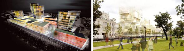Несостоявшаяся концепция бизнес-комплекса на Цветном бульваре, Москва, Россия, разработана в 2004 году