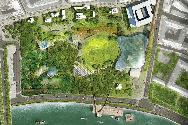 На территории будущего парка «Зарядье» появится интерактивный павильон. Изображение № 1.