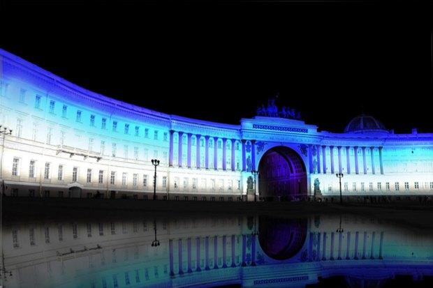 На ночь глядя: 12 проектов подсветки Главного штаба. Изображение № 30.