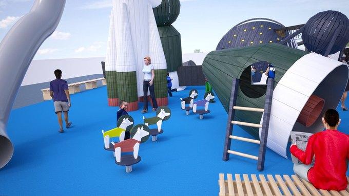 На ВДНХ появится детская площадка смоделями космических кораблей. Изображение № 3.