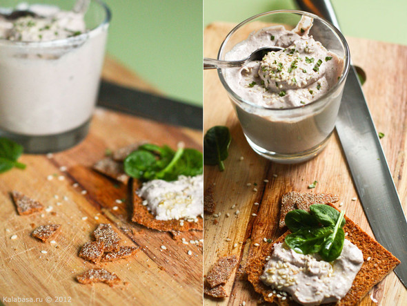 Постная намазка из тофу и грецких орехов. Изображение № 9.