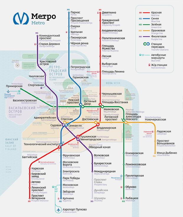 Как выглядит схема петербургского метро от Студии Лебедева. Изображение № 1.