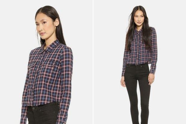 Где купить женскую рубашку вклетку: 9вариантов от одной до семи тысяч рублей. Изображение № 8.