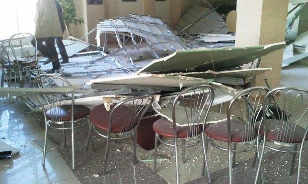 У театра «Буфф» рухнул потолок. Изображение № 3.