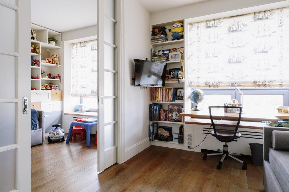 Четырёкомнатная квартира в американском стиле для семьи сдвумя детьми. Изображение № 34.