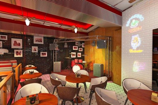 Ресторан «Две палочки» в американском стиле откроют на «Проспекте Ветеранов». Изображение № 3.