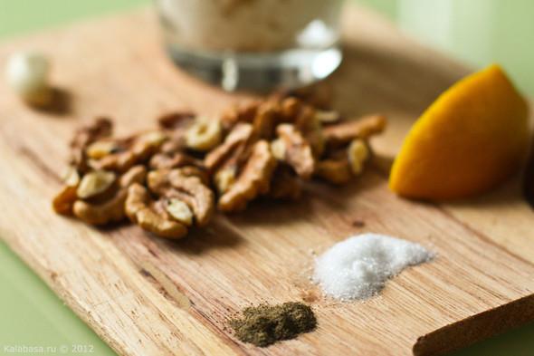 Постная намазка из тофу и грецких орехов. Изображение № 2.